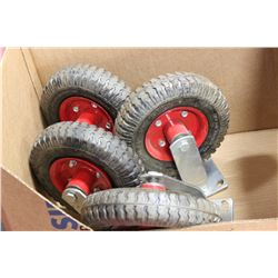 BOX OF 4 HEAVY DUTY CASTOR WHEELS