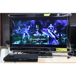 "PANASONIC 32"" LCD W/ PANISONIC DVD PLAYER & DVD"