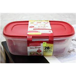 RUBBERMAID 28 PC TAKE ALONGS WITH QUICK CLICK