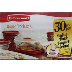 RUBBERMAID CONTAINERS EASY FIND LIDS, 30 PIECE