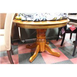 """OAK PEDESTAL BASE 42"""" ROUND TABLE"""