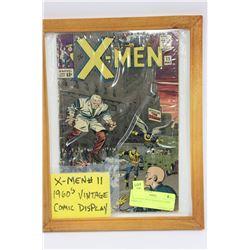 X-MEN #11 1960'S VINTAGE COMIC DISPLAY