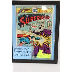 VINTAGE 70'S SUPERMAN #295 VERY FINE CONDITION
