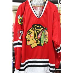 JEREMY ROENICK CHICAGO SIGNED CUSTOM RED JERSEY