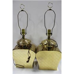 PAIR OF ESTATE BRICK STYLE LAMPS