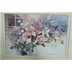 "LARGE ESTATE FLORAL PICTURE, 39""x30"""