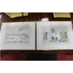 "PAIR OF ESTATE FRAMED PICTURES ON CHOICE, 14""x17"""