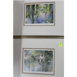 PAIR OF ESTATE FRAMED PICTURES ON CHOICE 14x11