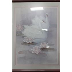 ESTATE FRAMED SWAN PICTURE