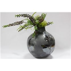 VASE WITH  ARTIFICIAL FOLIAGE