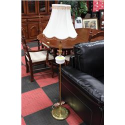 ESTATE MILK GLASS HOBNAIL FLOOR LAMP