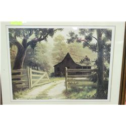 FARM HOUSE FRAMED PICTURE