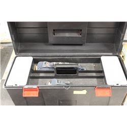 TOOLBOX W/ WRENCHES, PIPE WRENCH, ETC.