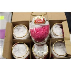 BOX OF 6 STELLA ARTOIS WINE GLASSES