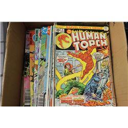 BOX W/ 20 VINTAGE COMICS - XMAN, HUMAN TORCH,