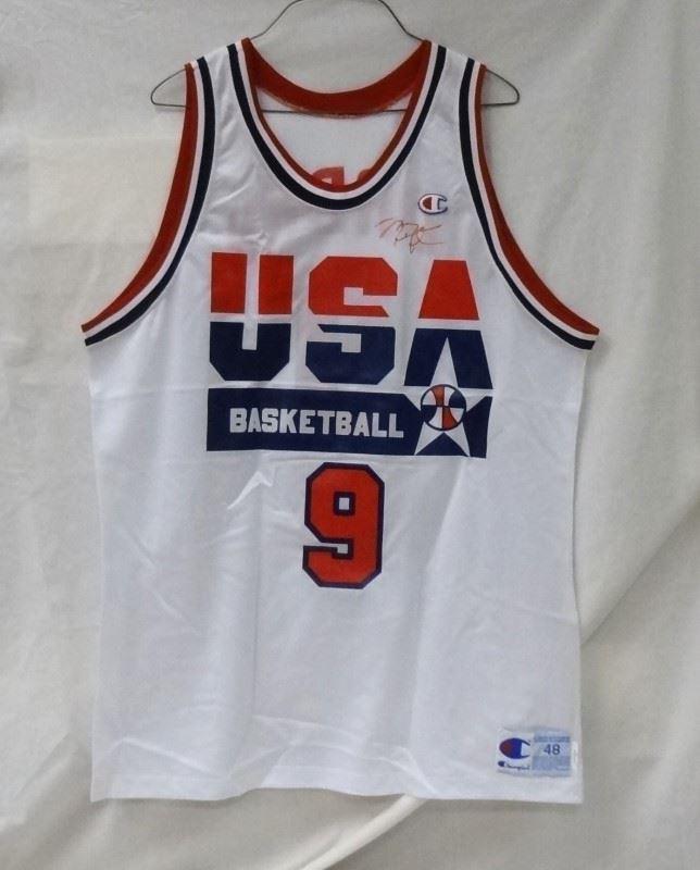 the latest b2535 0af05 Autographed/Signed MICHAEL JORDAN Team USA Olympics Jersey