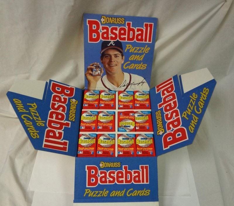 Rare 1988 Donruss Baseball Unopened Display Case Containing 216 Wax Packs