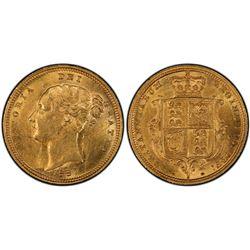 1887S ½ Sovereign PCGS AU58