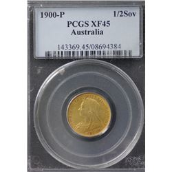 1900P ½ Sovereign PCGS XF45