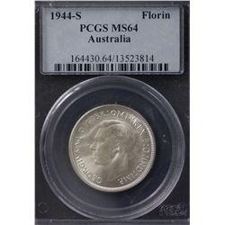 1944s Florin PCGS MS 64