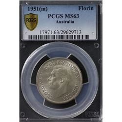 1951(m) Florin PCGS MS63 , regular