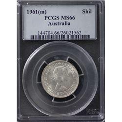 1961 Shilling PCGS MS 66