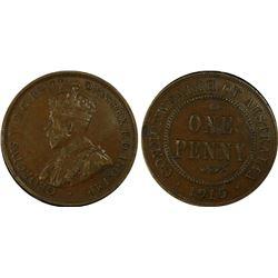 1915 Penny PCGS AU 50