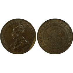 1917 Penny PCGS AU 55