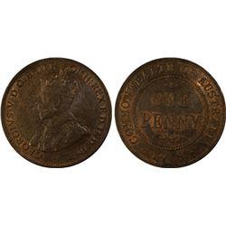 1918 Penny PCGS MS 63 BN