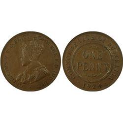 1924 Penny PCGS AU 58