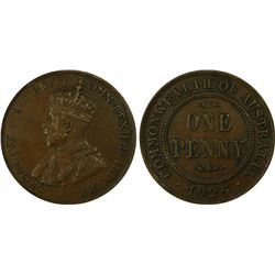 1925(m) Penny PCGS XF45