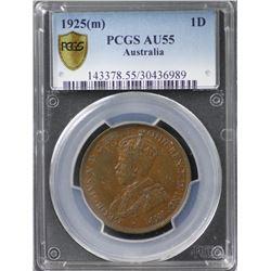1925 Penny PCGS AU 55