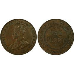 1929 Penny PCGS AU 58