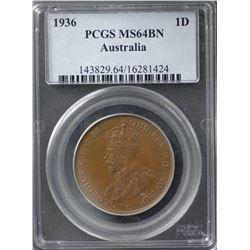 1936 Penny PCGS MS64BN