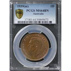 1939(m) Penny PCGS MS64BN