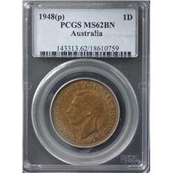 1948(p) Penny PCGS MS62BN