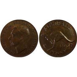 1950 P Penny PCGS MS 64 BN