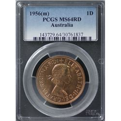 1956(m) Penny PCGS MS64RD