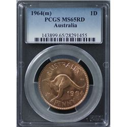 1964(m) Penny PCGS MS65RD