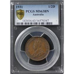 1931 ½ Penny PCGS MS63BN
