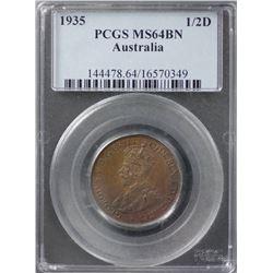 1935 ½ Penny PCGS MS64BN
