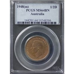 1948(m) ½ Penny PCGS MS64BN