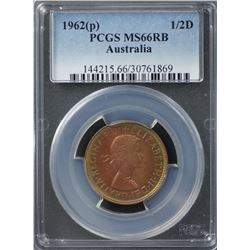1962(p) ½ Penny PCGS MS66RB