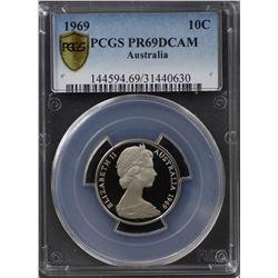 1969 10c PCGS PR 69