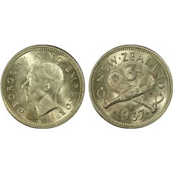 New Zealand 3D 1937 MS62, 3d 1933 MS62, Florin 1950 MS63