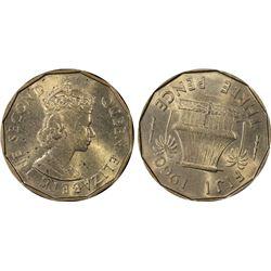 Fiji 3 Pence 1960 PCGS MS64
