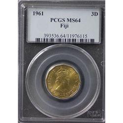 Fiji Penny 1961 PCGS MS64