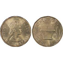 Fiji 3 Pence 1963 PCGS MS64