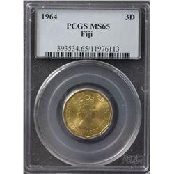 Fiji 3 Pence 1964 PCGS MS65
