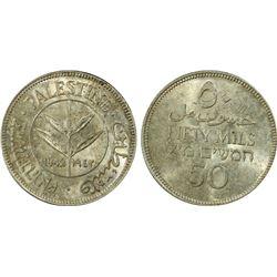 Palestine 50 Mil 1942 PCGS MS 63
